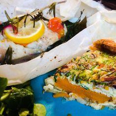 Codfish Papilotte & Pumpkin Pie Homecooked