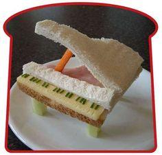 grand piano sandwich #kids #lunch