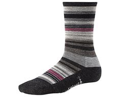Smartwool Womens Jovian Stripe Charcoal Heather M Sock -- Check out the image by visiting the link.