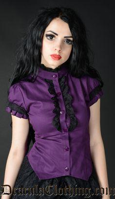 Purple Short Sleeved Blouse
