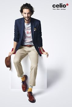 great style, with so much personality - Celio France Engagement Inspiration, Portrait Inspiration, Spring Summer 2015, Pulls, Jeans, Menswear, Mens Fashion, Guy Style, Outfits