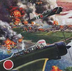 Pearl Harbor, December 7, 1941.    (La Pintura y la Guerra. Sursumkorda in memoriam)