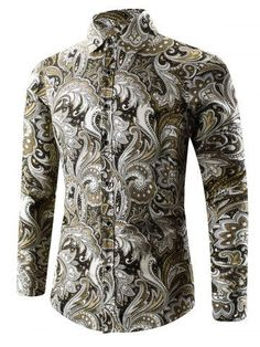 QZXZSM Luxury Brand Shirts for Men 2017 Fashion Printed Slim Long Sleeve Shirts for Boys Chemise Homme Casual Camisas Hombre Cool Shirts For Men, Casual Shirts For Men, Men Casual, Ny Dress, Chemise Fashion, Mens Shirts Online, Men Online, Plus Size Men, Slim Fit Dress Shirts