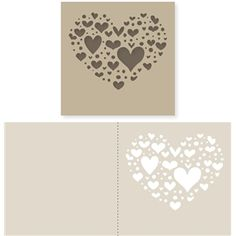 Silhouette Design Store - View Design #20507: heart of hearts card
