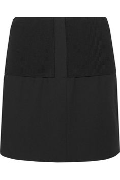 Tibi | Anson Camille ribbed stretch-knit and wool-blend mini skirt | NET-A-PORTER.COM