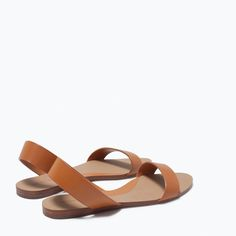 Image 4 of FLAT LEATHER SANDALS from Zara