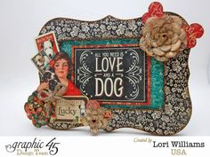 dollar wooden frame... love the way the Raining Cats and Dogs collection made it stand out.