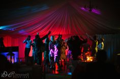 Langley Priory Wedding, party in the marquee #langleypriory