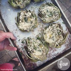 One of my most favorite foods in the world :) Grilled Artichokes - Delish!