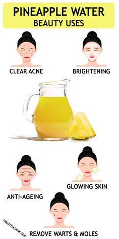 PINEAPPLE WATER BEAUTY BENEFITS Hair Scrub, Scalp Scrub, Natural Body Wash, Natural Skin, Natural Henna, Henna For Hair Growth, Henna Hair, Exfoliate Scalp, Make Hair Thicker