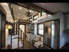 Luxury Tiny House Leaves Little To Be Desired - Bedroom has plenty of headspace + another bed loft on the other side.