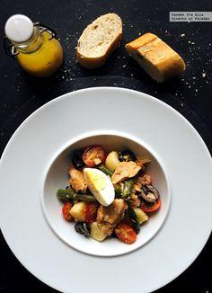 Ensalada de judías y patatas a la francesa. Receta  http://paraadelgazar.ws/ensalada-de-judias-y-patatas-a-la-francesa-receta/ Salud y Bienestar