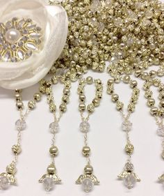25 pcs Angel gold bead First communion favors by AVAandCOMPANY