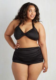 Bathing Beauty Two-Piece Swimsuit in Black - 16-34