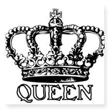 Queen Crown Rectangle Sticker for