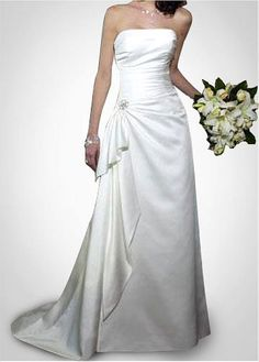 LACE BRIDESMAID PARTY BALL GOWN IVORY WHITE FORMAL PROM TAFFETA SHEATH STRAPLESS WEDDING DRESS