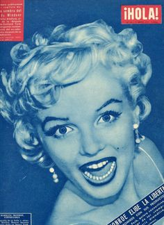 Hola! - January 22nd 1955, magazine from Spain. Front cover photo of Marilyn as she appeared at a press conference to announce the formation of Marilyn Monroe Productions, January 7th 1955.