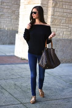 off the shoulder sweater | bishop&holland | dallas style blog