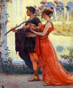 Albert Herter.He was born in New York City, studied in Paris and then in New York's Art Students League. He had come from an artistic family.  themaskedlady.blogspot.com