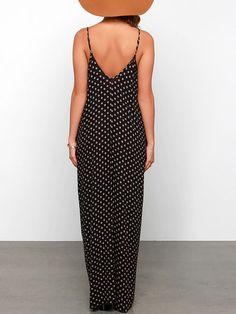 Dresses Casual Black Deep V Neck Floral Print Cami Dress