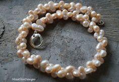 Perlenketten - Perlenkette Doppelperlen 925 Silber - ein Designerstück von edelsteinreich bei DaWanda