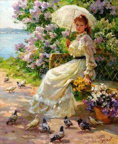 Vladimir Gusev - Feeding the Pigeons