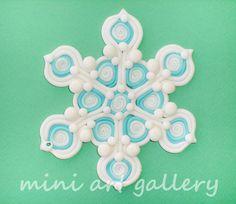 Handmade Glitter Snowflake Ornament — Crafthubs