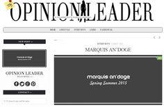 PUBBLICATO I GIORNI SCORSI DA http://www.theopinionleader.eu/ L'INTERVISTA E L'ARTICOLO SU MARQUIS AN'DOGE...  UN AFFETTUOSO RINGRAZIAMENTO PER LE BELLISSIME PAROLE ESPRESSE... https://plus.google.com/+TheopinionleaderEu/posts  #theopinionleader #marquisandoge #mand #luxury #blog #blogger #lifestyle #interview #ss2015 #collection #press @theopinionleader