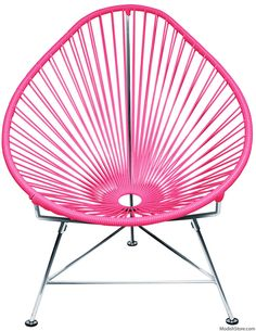 Innit Acapulco Chair - Chrome Frame Pink Weave