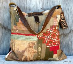 1800's Primitive American Quilt Bag Little Miss by stacyleigh, $199.95