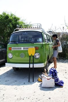 some day I'll fix up an old school VW bus, but I'd paint it a minty green