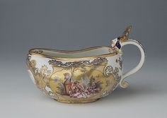 Bourdalou (female urinal), Museen der Stadt Bamberg: Glanz des Barock. Sammlung Ludwig Bamberg - Fayence und Porzellan