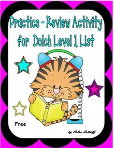Here is a short booklet to use for classwork, homework, or center activity to review the words from Level 1 of the Dolch Sight Word list.  Activities include.    Selecting correct word to complete a sentence    Select word from word box to complete a sentence    Match antonyms    Complete a word search    Read a statement and answer a question