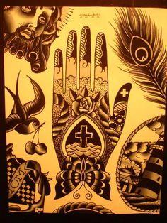 Stuart Cripwell's Awesome tattoo flash from Spider Murphy's Tattoo Flash Portfolio!!!