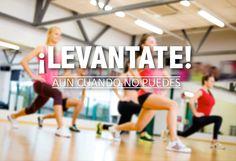 Cuando parece que ya no puedes mas con el ejercicio o con la dieta, da el extra y sigue adelante un poco mas. Este es el principio de mejorar. Si siempre haces el mismo esfuerzo y no das mas que eso, no vas a mejorar. ¡Levantate!