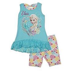 Disney Baby Frozen Toddler Girl's Tank Top & Bike Shorts - Elsa
