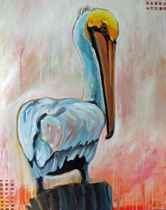 One of our very talented illustrators, Marita Gentry, painted this very handsome pelican. Be sure to follow her! She has beautiful boards to inspire you!