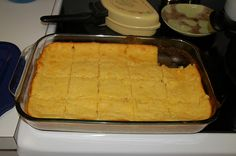 I usually make my cornbread with one Jiffy corn muffin and one Jiffy yellow cake, but I am DEFINITELY going to try this recipe!