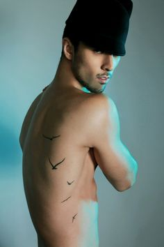 beautiful flying birds tattoo