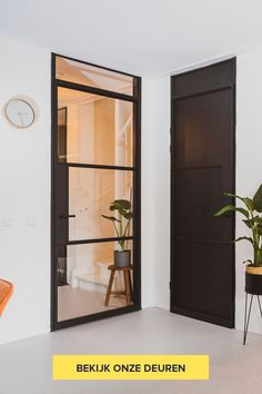 GewoonGers Renovation is absolutely unnecessary with these interior doors from GewoonGers. Just for the existing frame and no hassle! You choose your door, we make and place it for Living Room Grey, Living Room Decor, Concrete Interiors, House Doors, Contemporary Home Decor, Internal Doors, Creative Home, Inspired Homes, Home Renovation