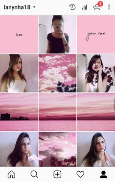 Feed Rosa, Idéias de feed, inspiration, pink Insta Feed Goals, Instagram Feed Layout, Feeds Instagram, Instagram Grid, Pink Instagram, Instagram Frame, Foto Instagram, Instagram Design, Tumblr Feed