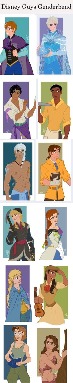 Cross gender disney males