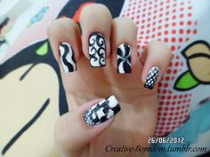 Black and white nails pt.1 by anacarolinaaf on DeviantArt