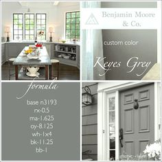 The perfect gray cabinet color to match stainless steel appliances.  An Exquisite Kitchen Restoration Has Charm To Burn - laurel home
