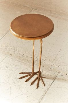 Tweet tweet! Side table with bird leginspired footing for a totally unique addition to any living space