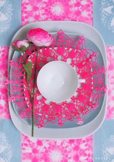 Pink plate set