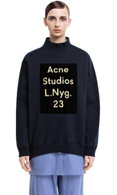 Beta flock print oversized sweatshirt #AcneStudios #PreFall2014
