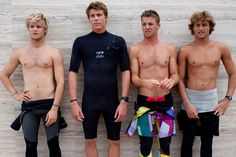 Boys in wetsuits Kiron Jabour and Jack Freestone Surfer Boys, Ideal Man, Surfs Up, Lifeguard, Boys Who, Wetsuit, Surfing, Best Friends, Guys