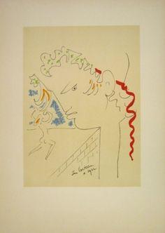 Lithographie - Jean Cocteau - Untitled