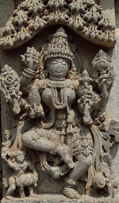 Dancing Lakshmi - A rare statue at the Keshava temple of Somnathpur